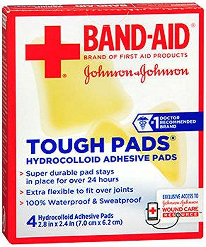 "Johnson & Johnson Tough Pads, 4-Count 2.8"" x 2.4"" Pads"