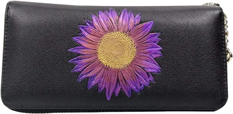 Damenhandtasche mit Reißverschluss,Lange Lederbrieftasche aus Leder Leder Leder B07M98YF7X ae53fe