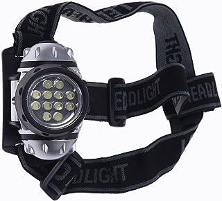SODIAL(R)ヘッドランプ 12 LEDヘッドランプ ヘッドライト ズーム可能 ホワイト 防水 釣り