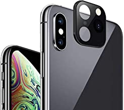 Camera Lens Cover for iPhone X/XS/XS Max, Morenitor HD Scratch Proof Metal Alumium Camera Lens Seconds Change to iPhone 11pro/11 Pro Max Camera Tempered Glass Screen Protector