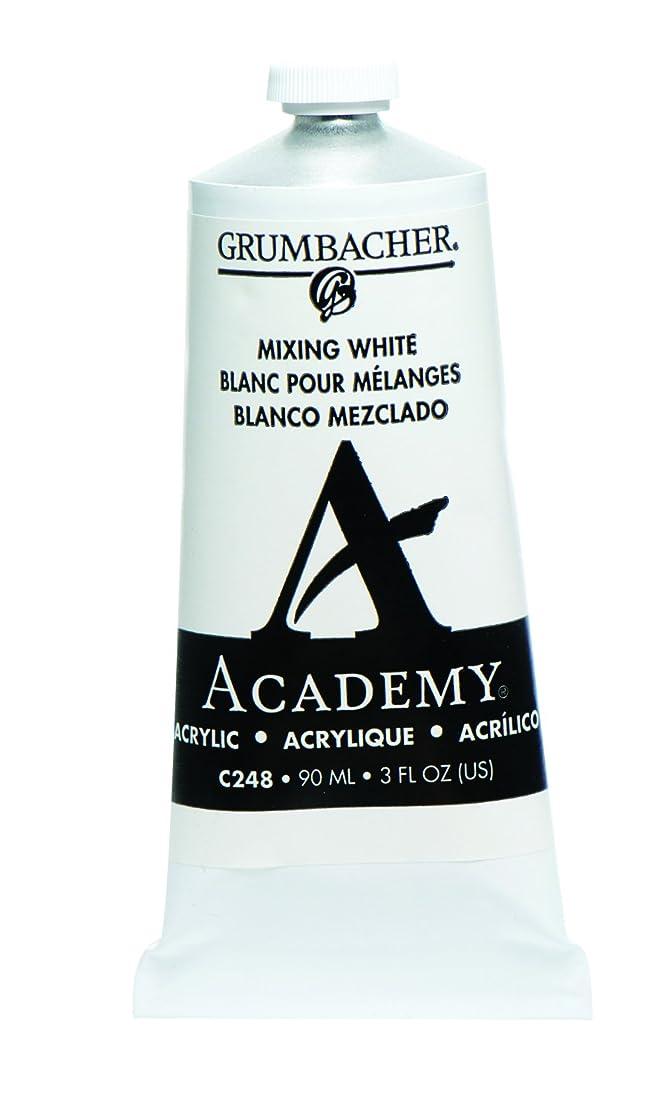 Grumbacher Academy Acrylic Paint, 90ml/3 oz Metal Tube, Mixing White