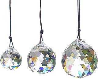 H&D HYALINE & DORA 30/40/50 mm candelabro de Bola de Cristal facetado prismas lámpara de Techo iluminación Colgantes Colgantes decoración de Boda y Navidad