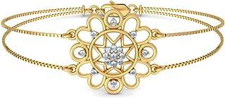 8.5 inches IJ| SI 18K Yellow Gold identification-bracelets Size 0.28 cttw Round-Cut-Diamond