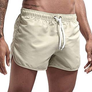 TAMALLU Men Beach Pants Fitness Loose Surfing Trunks Shorts