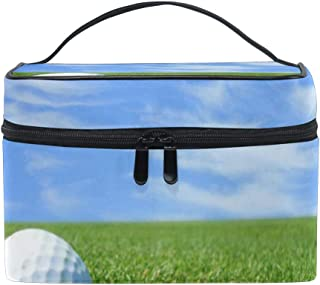 All agree Toiletry Bag Golf Ball Mowed Green Womens Beauty Makeup Case Brush Cosmetic Organizer