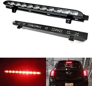iJDMTOY Black Chrome Lens Red LED 3rd Brake Lamp For 07-14 MINI Cooper R56 R57 R58 R60, OEM Fit High Mount Brake Light Powered by 10 Brilliant Red LED Lights