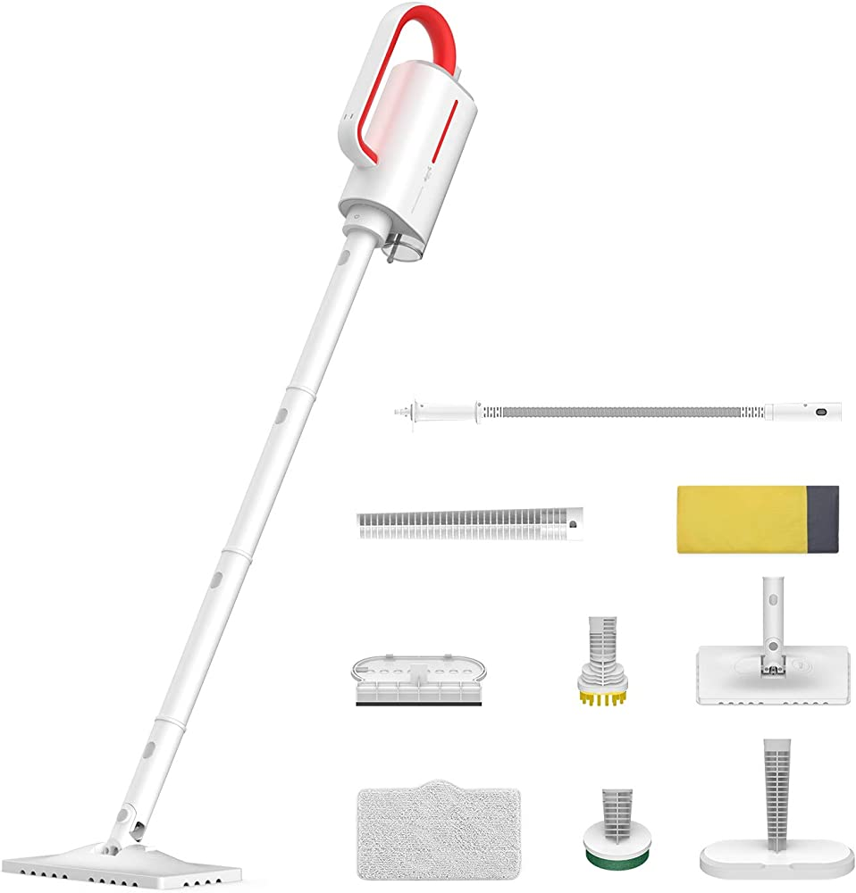 Deerma, pulitore a vapore con accessori, 5 in 1, scopa a vapore multifunzione, 1700 w 1/1