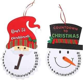 Macute Countdown to Christmas Calendar Days Til Christmas Calendar 2 Pcs Snowman Santa Claus Xmas Advent Calendars for Holidays Sign Christmas Tree Decorations Door Window Wall Hanging Ornaments