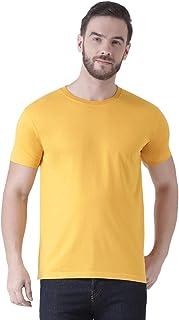 Griffel Half Sleeve Cotton Basic Round Neck T Shirts for Men