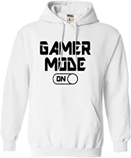 Go All Out Adult and Youth Gamer Mode On Funny Gaming Sweatshirt Hoodie