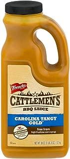 Cattlemen's Carolina Tangy Gold BBQ Sauce (Gluten Free, Large, Bulk BBQ Sauce), 38 Ounce (Pack of 6)