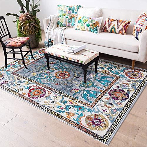 Mishxh tapijt, Bohemian-stijl, 1-2, antislip, waterdicht, zacht en wollig, geschikt voor woonkamer, slaapkamer, keuken, hal. 120x200cm