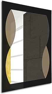 MirrorsHome | Black & Brown Gloss Modern Framed | Rectangle Wall Mirror for Bathroom | Bedroom | Living Room 31