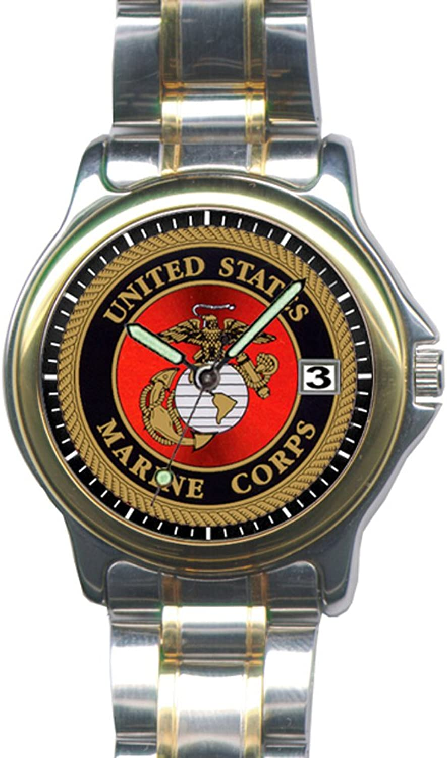 Aquaforce Marines Two Tone Watch with 38mm Face and Two Tone Strap