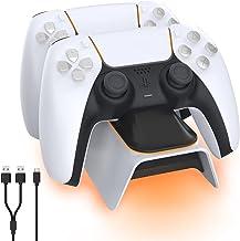 NexiGo Dobe Opgewaardeerde PS5-controllerlader, Playstation 5-oplaadstation met LED-indicator, hoge snelheid, snel oplaadd...