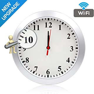 Newwings Upgrade 1080P WiFi Hidden Camera Wall Clock Spy Camera Nanny Cam with Motion Detection, Indoor Covert Security Ca...