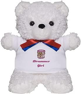 CafePress Drummer Girl Teddy Bear, Plush Stuffed Animal
