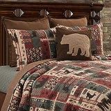 C&F Home Killian Ridge Red Lodge Rustic Cabin Deer Bear Cotton 3 Piece King Machine Washable Reversible Quilt Set