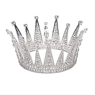 LUCKYYY Accessori per Abito da Sposa Copricapo da Sposa con Corona in zircone Vintage
