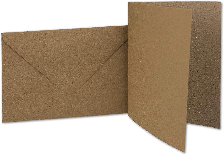 400 Kraftpapier-Karten-Umschlag Set DIN A6 Falt-Karten Natur-Braun 10,5x14,7 10,5x14,7 10,5x14,7 cm 220 g m² Brief-Umschlägen DIN C6 11,5x16,0 cm 90 g m² Natur-braun B07GFQ4Y8Z | Moderate Kosten  ba86af