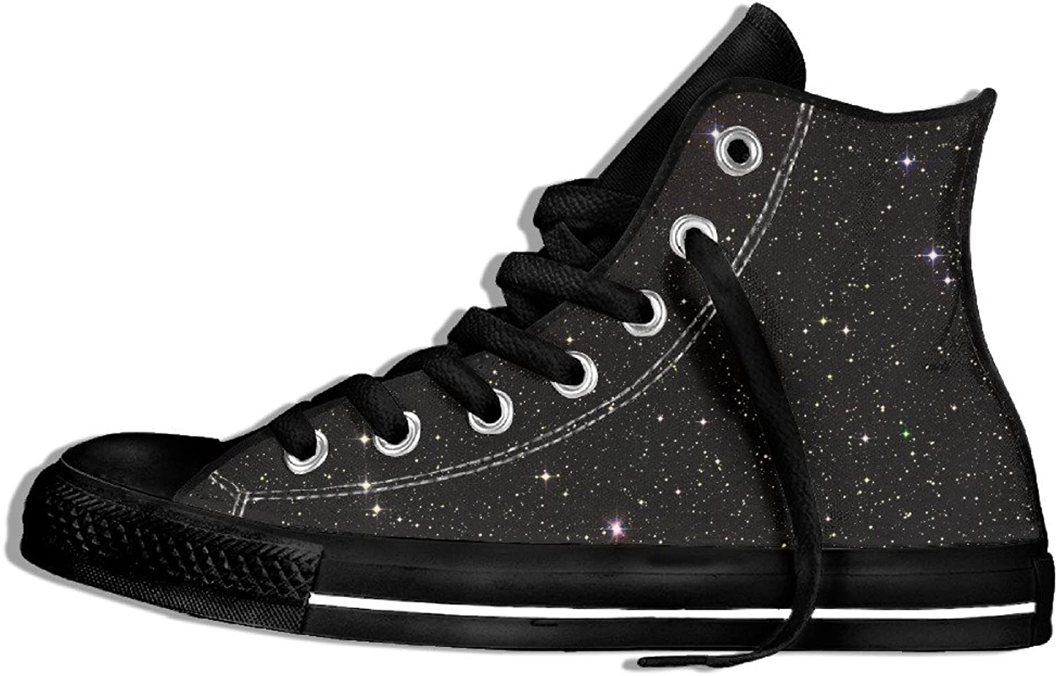 Efbj Stars Background Unisex Fashion High Top Canvas shoes Sneakers for Men and Women