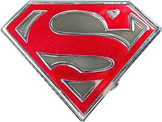 Superman cut out shield logo (Grey) Novelty Belt Buckle