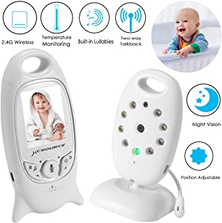 "Baby Monitor Wireless Camera+ Talk-Back Two-Way Audio+Night Vision Temp Sensor+ Built-in 8 Lullaby +2"" LCD Screen+Baby Pet..."