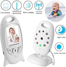 Video Baby Monitor Wireless Camera+2 Way Talk Back Audio+Night Vision+Temperature Sensor+8 Lullaby+2