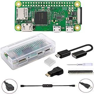 GeeekPi Raspberry Pi ZERO W Basic Starter Kit - Incluye estuche Raspberry Pi ZERO W (inalámbrico) y acrílico Raspberry Pi ...