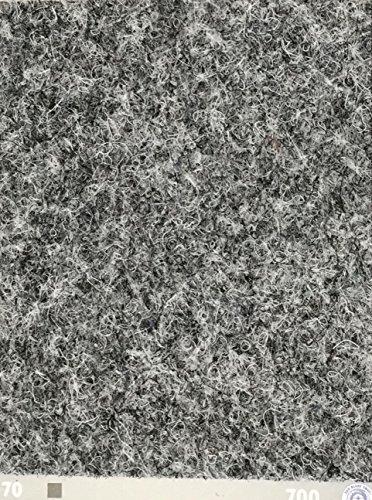 Nadelfilz-Teppich in der Farbe hell-grau | Nadelvlies-Auslegeware in der Breite 2m x Länge 1,0m | Filz-Bodenbelag als Meterware erhältlich | robust & rutschfest, Beanspruchungsklasse (BK33)
