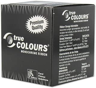 Zebra 800015-109 True Colours White Monochrome Ribbon for Zebra iSeries printers P310i, P320i, P330i, P330m, P420i, P430i and P520i & Zebra C Series printers P300, P310C, P310F, P400, P420C, P500, P52