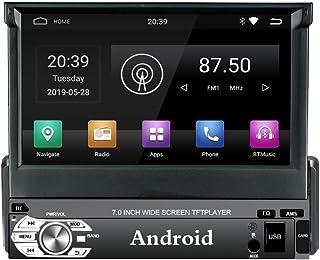 Panlelo PAT1 Android 9.0 Single DIN estéreo de Coche GPS navegación Quad Core 1G RAM/16G ROM 7 Pulgadas Pantalla táctil Un...