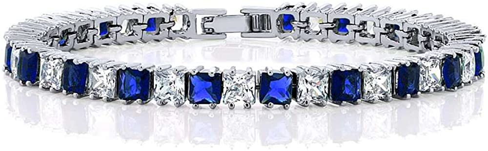 Max 71% OFF Gem Stone King 15.00 Cttw Princess Selling Cut White Blue and Zirc Cubic