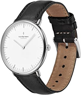 Unisex Native Scandinavian Analog Watch in Silver Analog Watch with Mesh Or Leather Strap 10030