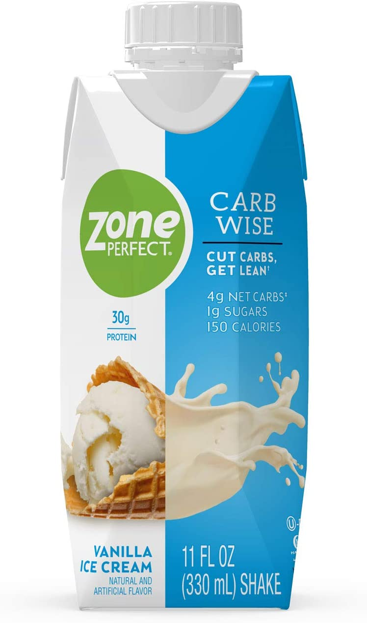 ZonePerfect Carb Wise High-Protein Shakes Clearance SALE Limited time Fla Vanilla Cream Ice Max 49% OFF