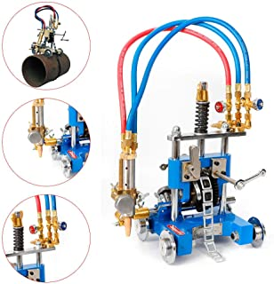 Manual Pipe GAS Cutter Beveler Torch Track Chain Cutting Beveling Machine CG211Y 5-50mm Thickness