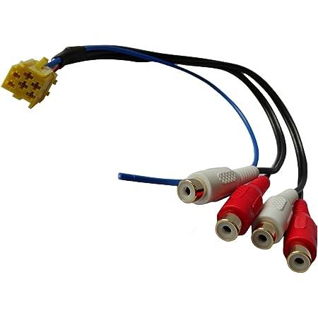 Aerzetix Steckeradapter Steckdose Mini Iso Gelb Bis 4 Cinch Für Vorverstärkte Lautsprecher Gehäuse Auto Auto Zurück Bevor Funkstellen Auto