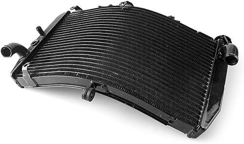 2021 Mallofusa sale Motorcycle Aluminum Radiator Cooling Cooler Compatible for Honda CBR600 F4i 2001 2002 2003 popular 2004 2005 2006 Black online