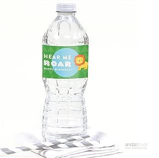 Andaz Press Jungle Safari Adventure Birthday Collection, Hear Me Roar Lion Water Bottle Labels, 20-Pack