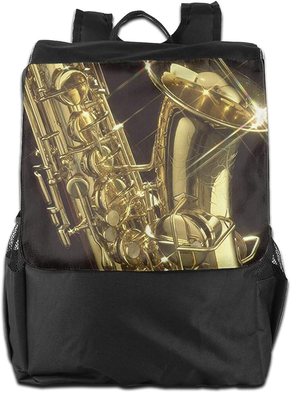 Sax golden Printed Girls Backpack Lightweight Casual Shoulder Bag School Bookbags