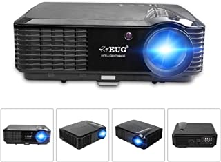 EUG LCD HD Video Projector - Wxga 3500 Lumen Support Full HD 1080P Red/Blue 3D MHL Compatible, LED Home Theater Cinema Pro...