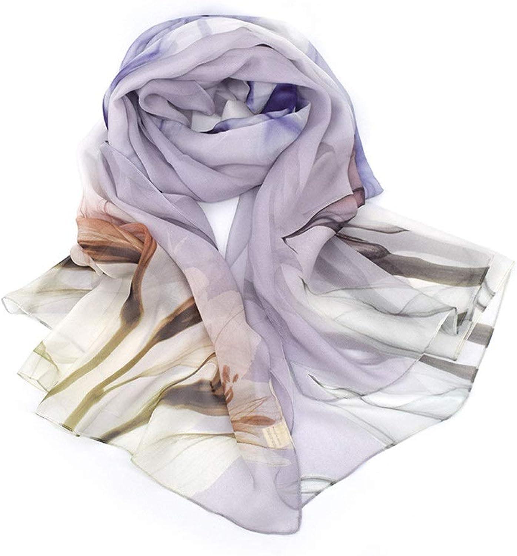 Women's Scarf Shawl Wrap Travel Twill Print Party Scarf Fashion (color   C5, Size   180  110cm)