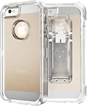 iPhone SE Heavy Duty Case - by MXX - TPU and PC Case with 360 Degree Rotating Belt Clip for Apple iPhone Se / 5S/ 5 - Clear Silicone TPU and PC(Transparent)