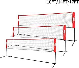 VIVOHOME Portable Height Adjustable Outdoor Badminton Net Set with Stand and Carry Bag for Volleyball Soccer Tennis Pickleball