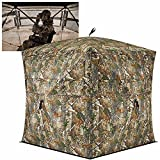 TIDEWE Hunting Blind See Through with Carrying Bag, 2-3 Person Pop Up Ground Blinds 270 Degree, Portable Durable Hunting Tent for Deer & Turkey Hunting (Camouflage)