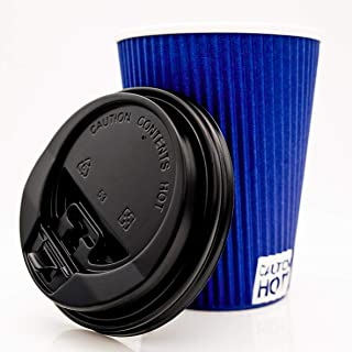 Disposable Coffee Cups, 12 oz or 16 oz Coffee Cups with Lids, Paper Cups To Go or for the Office, Insulated, Sleeveless Coffee Cup set of 100 from Urban Kuppz