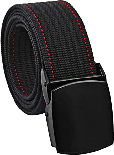 Samtree Nylon Web Belts for Men, Tactical Heavy Duty Belt with Flip-Top Military Buckle