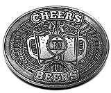 BevBuckle Cheers To Beers Gürtelschnalle mit Getränkehalter ca 11,4 x 8,9 x 2,5 cm. Made in USA