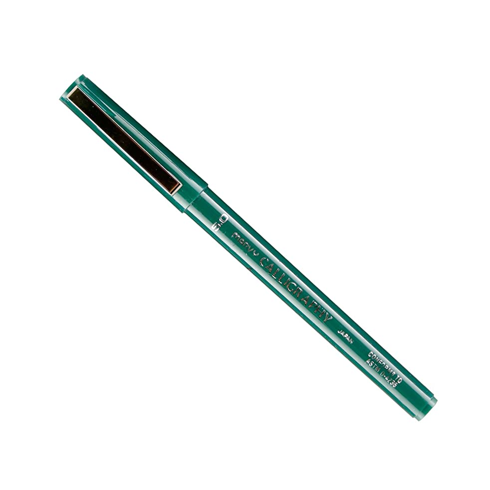Uchida Of America 6000B-C-4 Calligraphy Marker, 5.0mm, Green