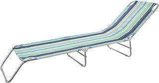 Tumbona Playa Plegable Gris Hierro de 24x186x53 cm -